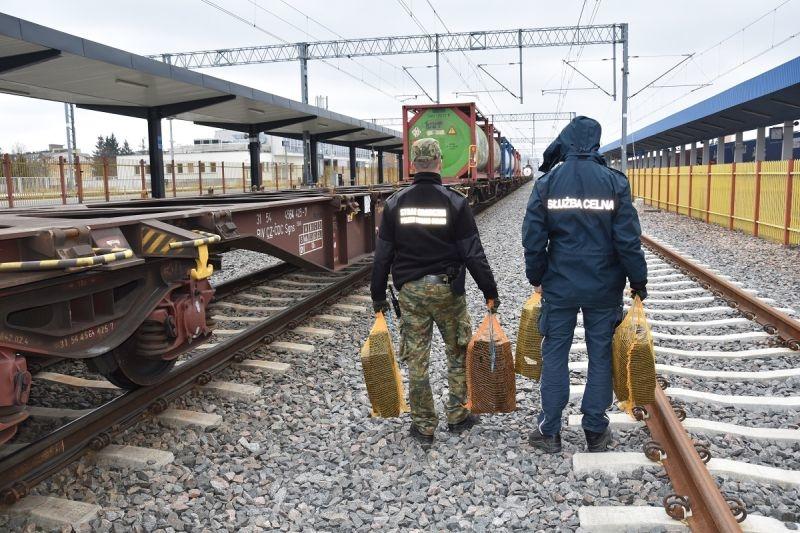Znaleziono nielegalne papierosy na kolei