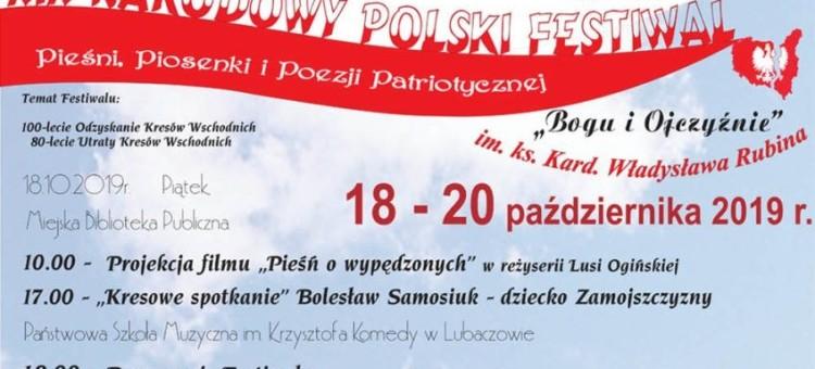 """Lubaczów. XIX Narodowy Polski Festiwal Pieśni, Piosenki i Poezji Patriotycznej """"Bogu i Ojczyźnie"""""""