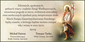 Tomasz Tyrka - Wójt Gminy Jarczów