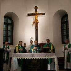 Wprowadzenie Najświętszego Sakramentu do kościoła oo. franciszkanów w Zamościu