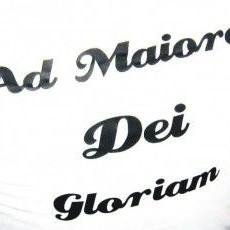 A.M.D.G - Ad Maiorem Dei Gloriam